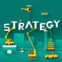 Construction site crane building strategy concept