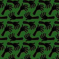 Halloween Zombie Arm Pattern vector