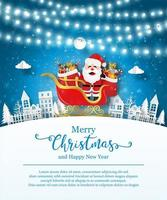 Christmas poster template with Santa Claus
