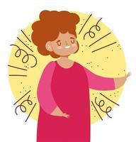 Woman avatar for social media vector