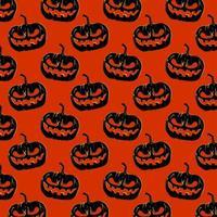 Halloween Orange and Black Pumpkin Pattern