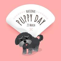 National puppy day poster with puppy