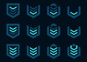 Game rank online futuristic hud set vector