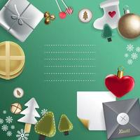 adornos navideños marco festivo con espacio de copia vector