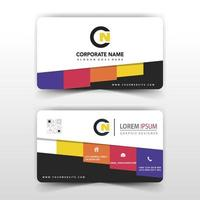 Colorful tab corporate card template vector
