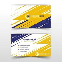 Corporate card blue and yellow template vector