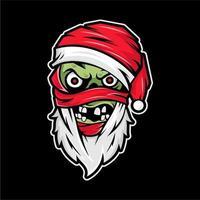 Zombie Santa Cartoon Design vector