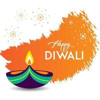 Happy Diwali card design with lightning