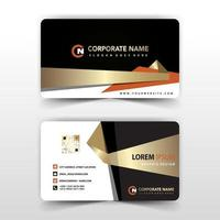 Elegant gold and black geometric business card template vector