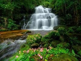 Smooth waterfall background