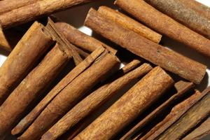 Cinnamon sticks pattern for food background