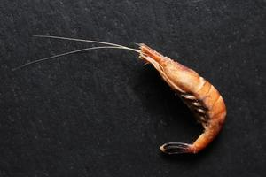 One cooked shrimp