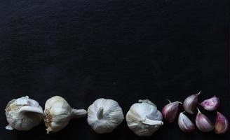 Garlic heads and cloves photo
