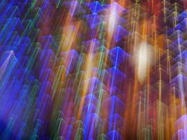 Light speeding upwards