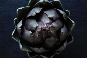 Top view of an artichoke
