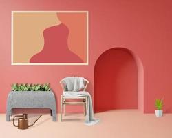 Intérieur 3d monochrome pastel photo