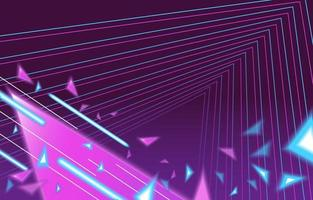 Neon Perspective Landscape Background vector