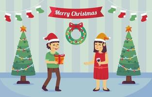 Celebrating Christmas and Exchanging Gifts