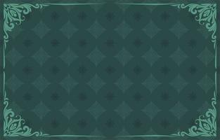 Ornamental Green Vintage Background
