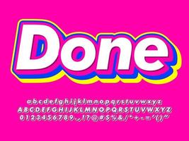 Bright Layered Text Effect vector