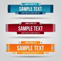 Lower third red, blue and orange design vector