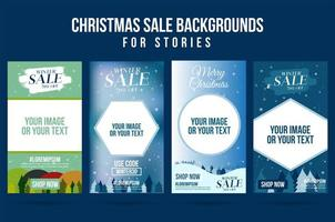 Set of Christmas design, sales banners vector