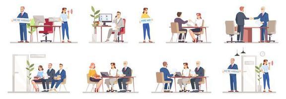 HR agency set vector