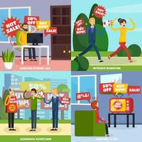Annoying and intrusive advertisement set vector