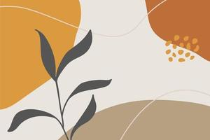 Trendy Abstract Organic Shapes Background vector