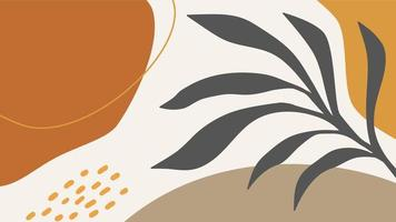 Minimal Abstract Organic Shapes Background vector