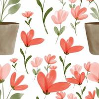 Hand painted watercolor floral pattern
