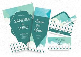 Geometric Watercolor Invitations