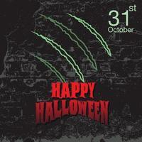 Halloween grunge design with claw marks