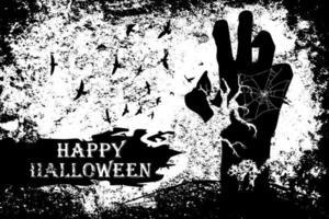 Zombie monster hand grunge Halloween design vector