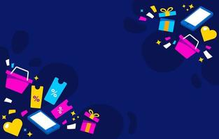 Cyber Monday Happy Shopping Background