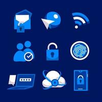 Cyber Security Privacy Check Icon vector