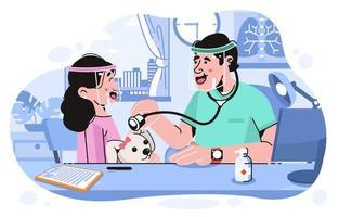 gracias ilustración del oficial de atención médica vector