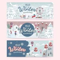 Winter Wonderland with A Playground Web Banner