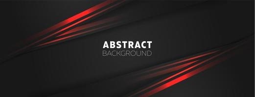 Dark Angfled Shapes with Red Borders Banner vector