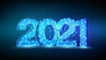 2021 celebration New Years futuristic banner vector