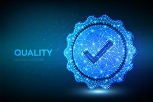 Quality seal futuristic banner