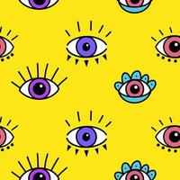 Seamless pattern with magical eyes