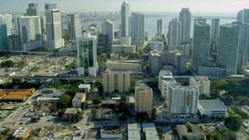 Aerial view Downtown Financial District, Miami video