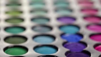 paleta de sombras profissional para maquiagem video