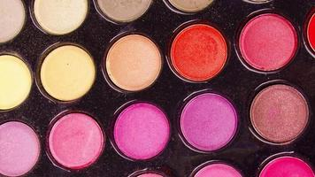 paleta de sombras de ojos de maquillaje profesional