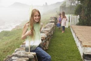 Happy Girl With Fishing Net
