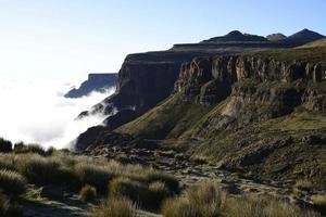 nascer do sol sobre Sani Pass, Lesoto