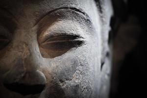 escultura de buda closeup