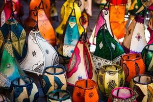 traditional moroccan lamps photo
