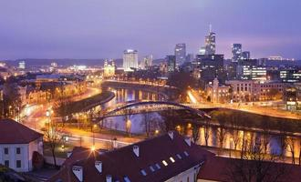 Evening panorama of Vilnius photo
